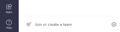"""a picture showing where """"Join or create a team"""" is located"""