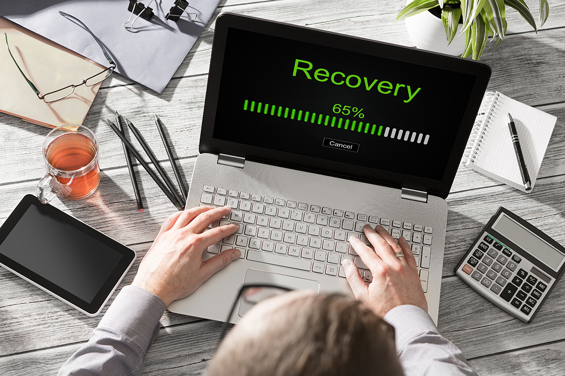 data backup restoration recovery restore browsing plan network corporate networking reserve business concept