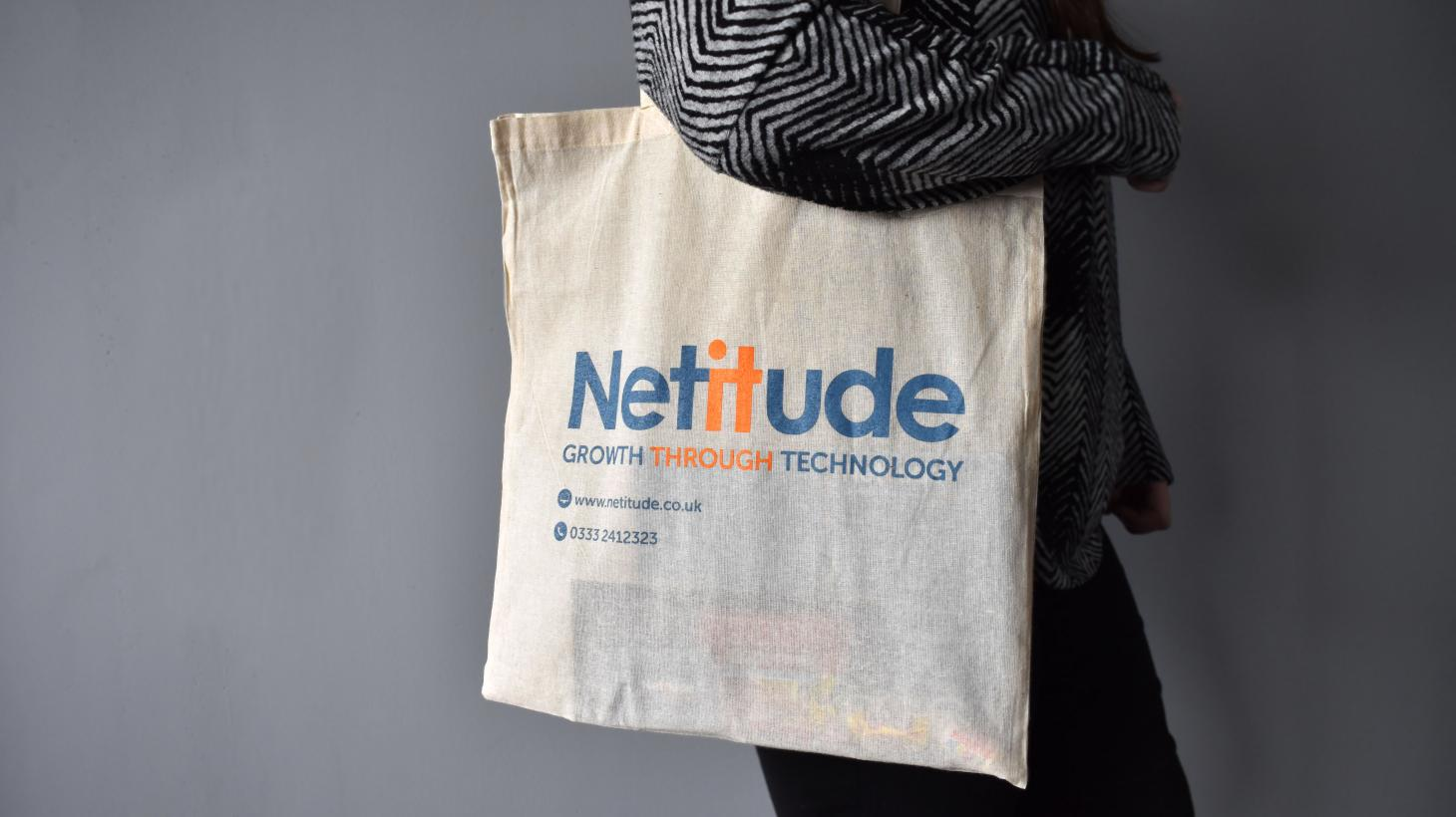 Our Netitude goodie bag for onboarding new clients