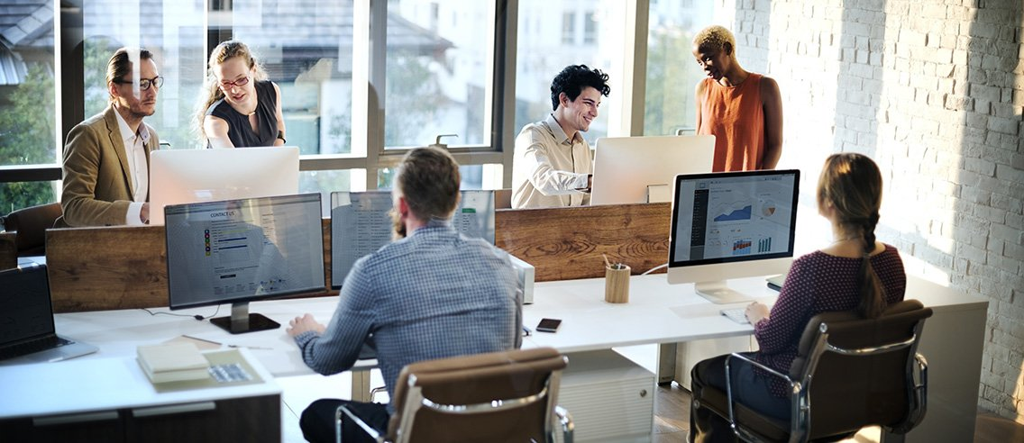 Business People Meeting Discussion Working Office