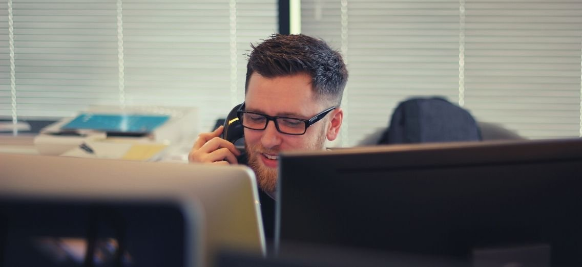 staff member on the phone